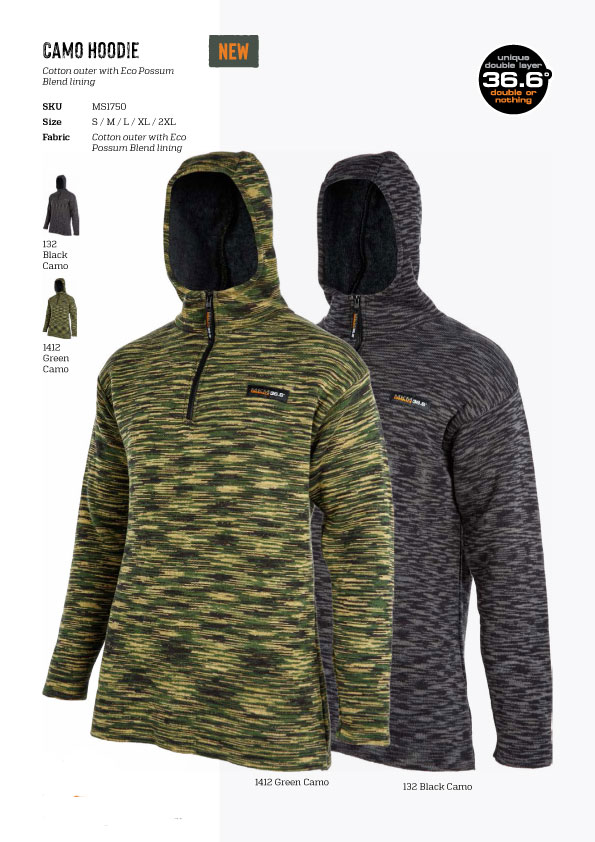 (MS1750)Camo Hoodie double layer
