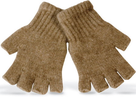 6602 FINGERLESS POSSUM AND LAMBS WOOL GLOVE